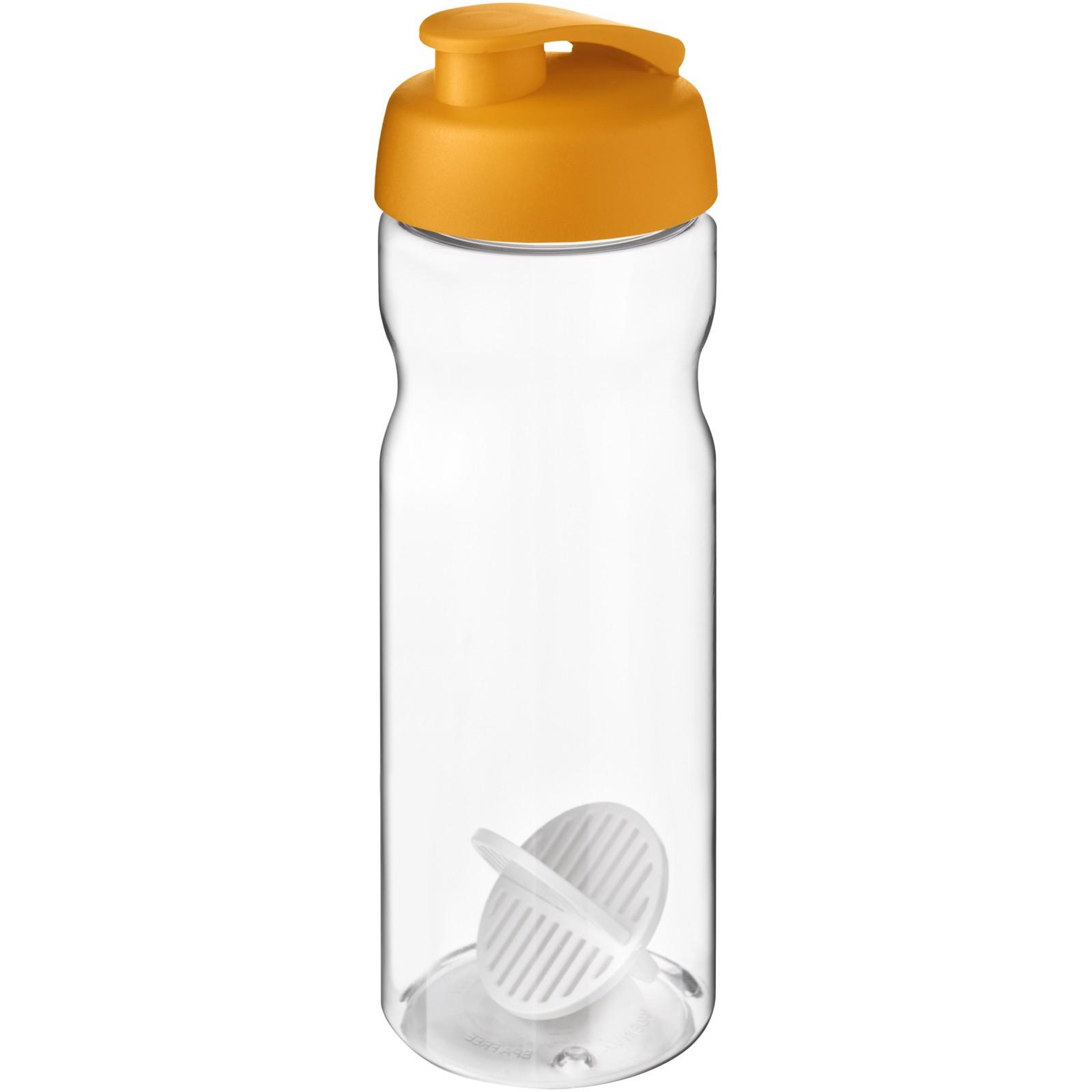 H2O Active Base 650 ml shaker bottle - Orange / Transparent