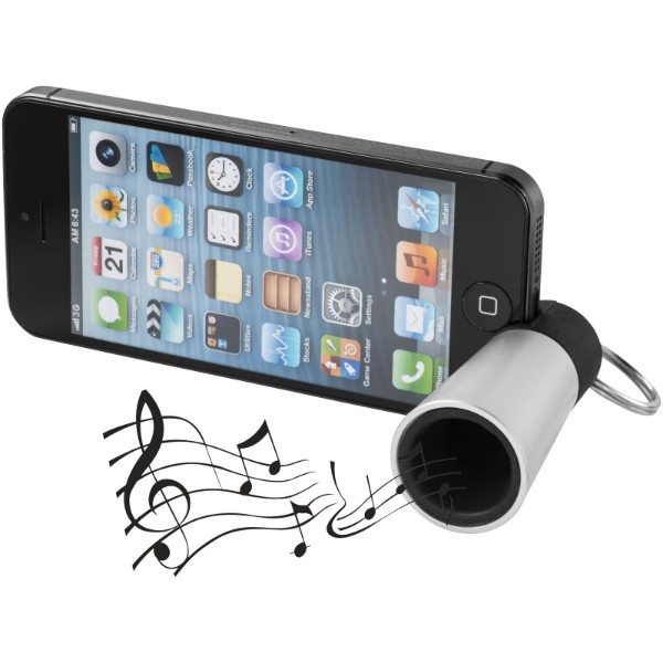Sonic amplifier and smartphone stand - Silver
