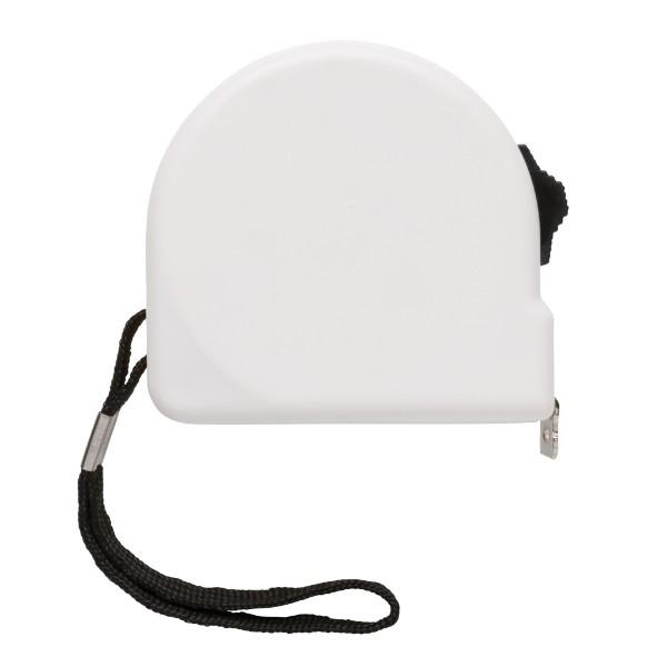 ABS svinovací metr - 3 m - Bílá