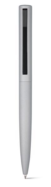 CONVEX. Ball pen in aluminium and ABS - Satin Silver