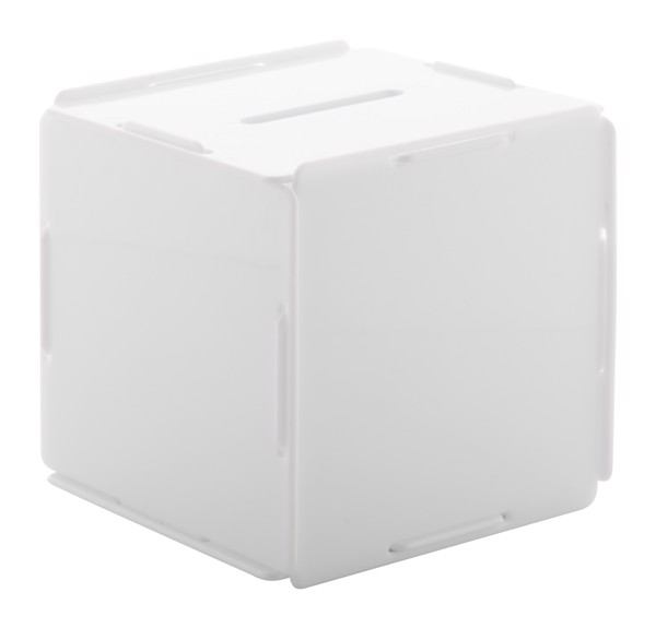 Coin Bank Cubobank - White