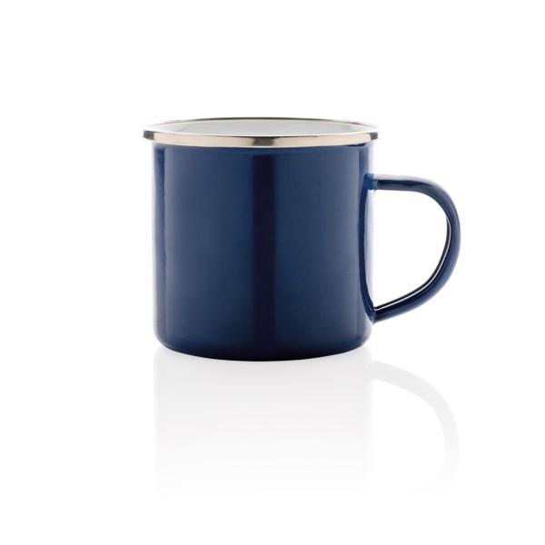 Vintage zománc bögre - Kék