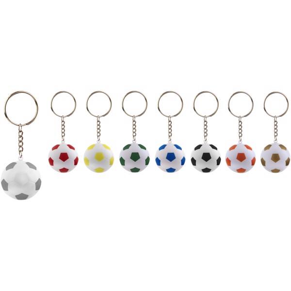 Striker Fußball Schlüsselanhänger - orange / weiss