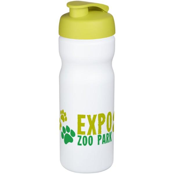 Sportovní láhev s vyklápěcím víčkem Baseline® Plus 650 ml - Bílá / Limetka