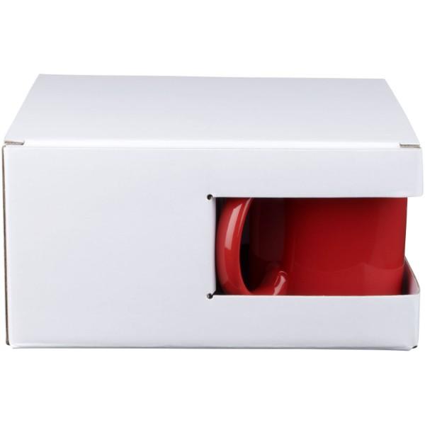 Ceramic Geschenkset mit 4 Bechern - Rot