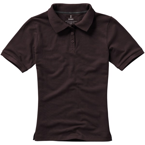 Calgary short sleeve women's polo - Chocolate brown / XXL