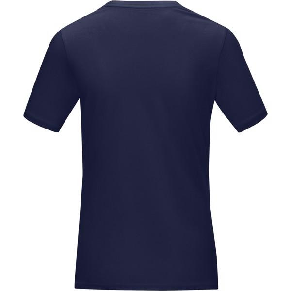 "Camiseta orgánica GOTS de manga corta para mujer ""Azurite"" - Azul marino / L"