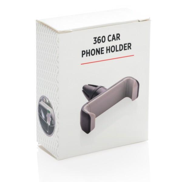 360° držák telefonu do auta - Černá