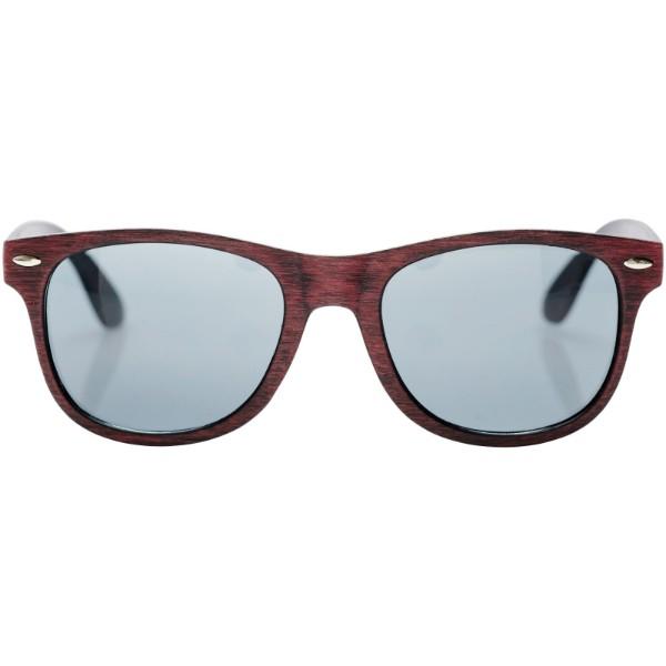 Sluneční brýle Sun Ray s povrchem s barevnými skvrnami - Červená s efektem námrazy