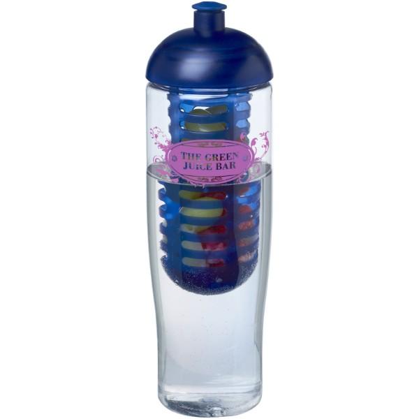 Sportovní láhev s infuzéremakupolovitým víčkem H2O Tempo® 700 ml - Transparent / Modrá