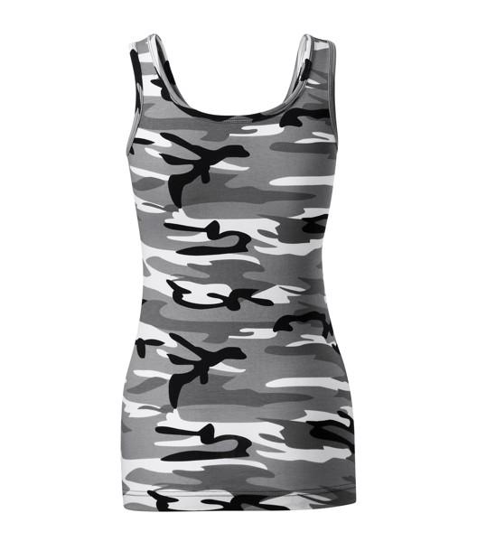 Tílko dámské Malfini Camo Triumph - Camouflage Gray / L