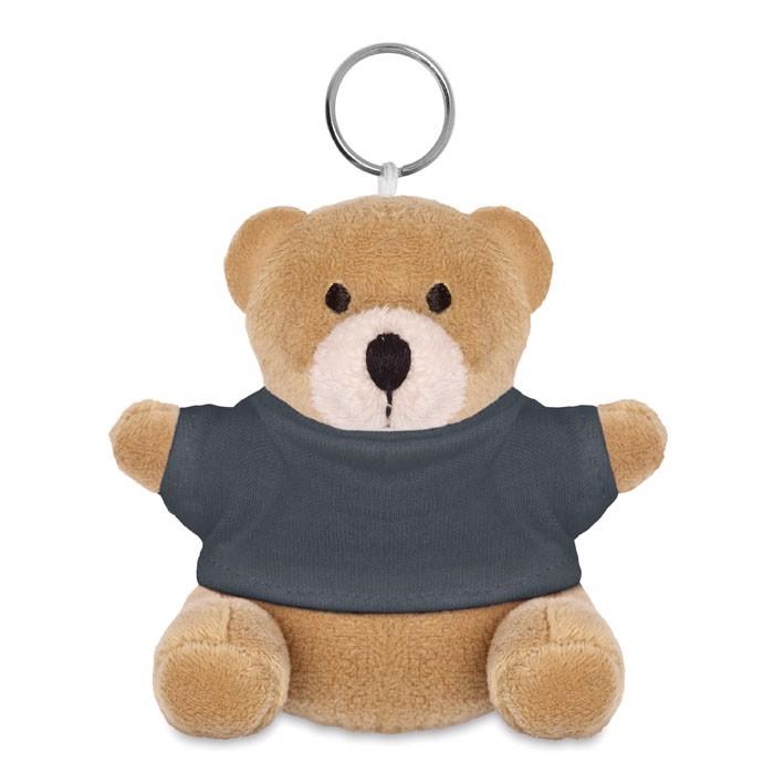 Teddy bear key ring Nil - Grey