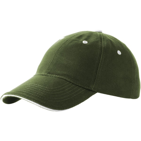Brent 6 panel sandwich cap - Army green