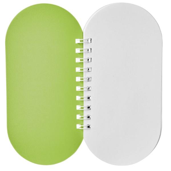 Poznámkový blok Capsule - Limetka / Bílá