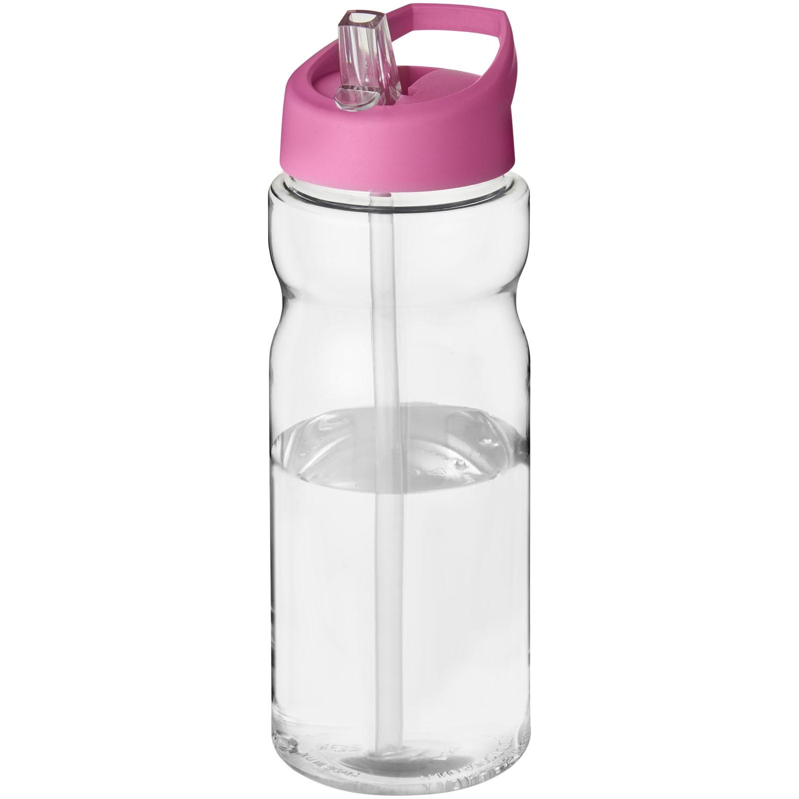 H2O Base® 650 ml spout lid sport bottle - Transparent / Pink