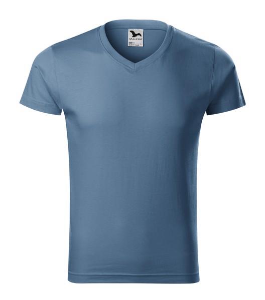T-shirt men's Malfini Slim Fit V-neck - Denim / XL