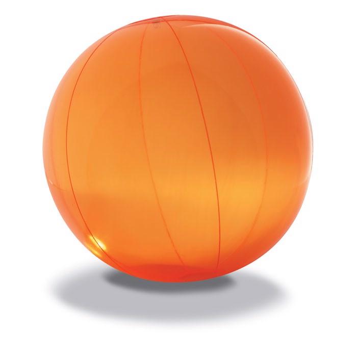 Átlátszó PVC strandlabda Aqua - narancssárga