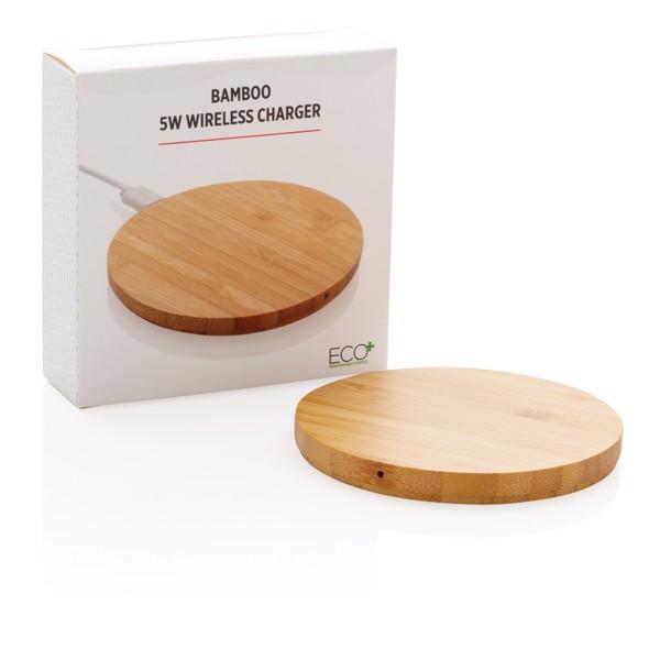 Bambusová bezdrátová nabíječka 5W