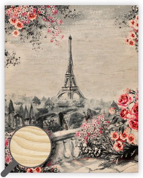 Dřevěný obraz Eiffel Tower