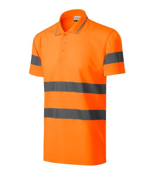 Polokošile unisex Rimeck HV Runway - Fluorescenční Oranžová / 2XL