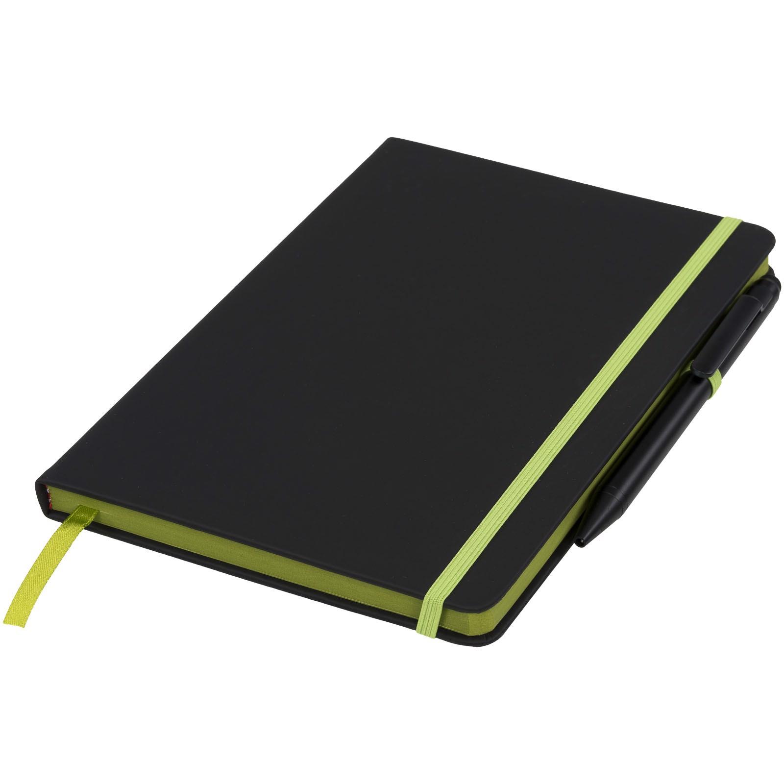 Zápisník Medium noir edge - Černá / Limetka