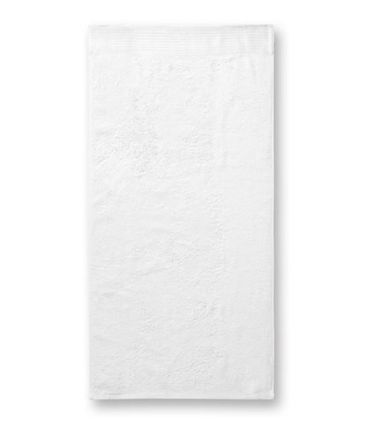 Ručník unisex Malfinipremium Bamboo Towel - Bílá / 50 x 100 cm