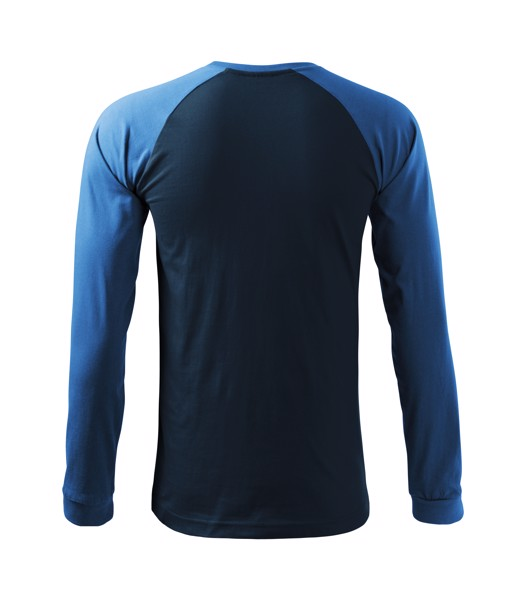 T-shirt men's Malfini Street LS - Navy Blue / 2XL