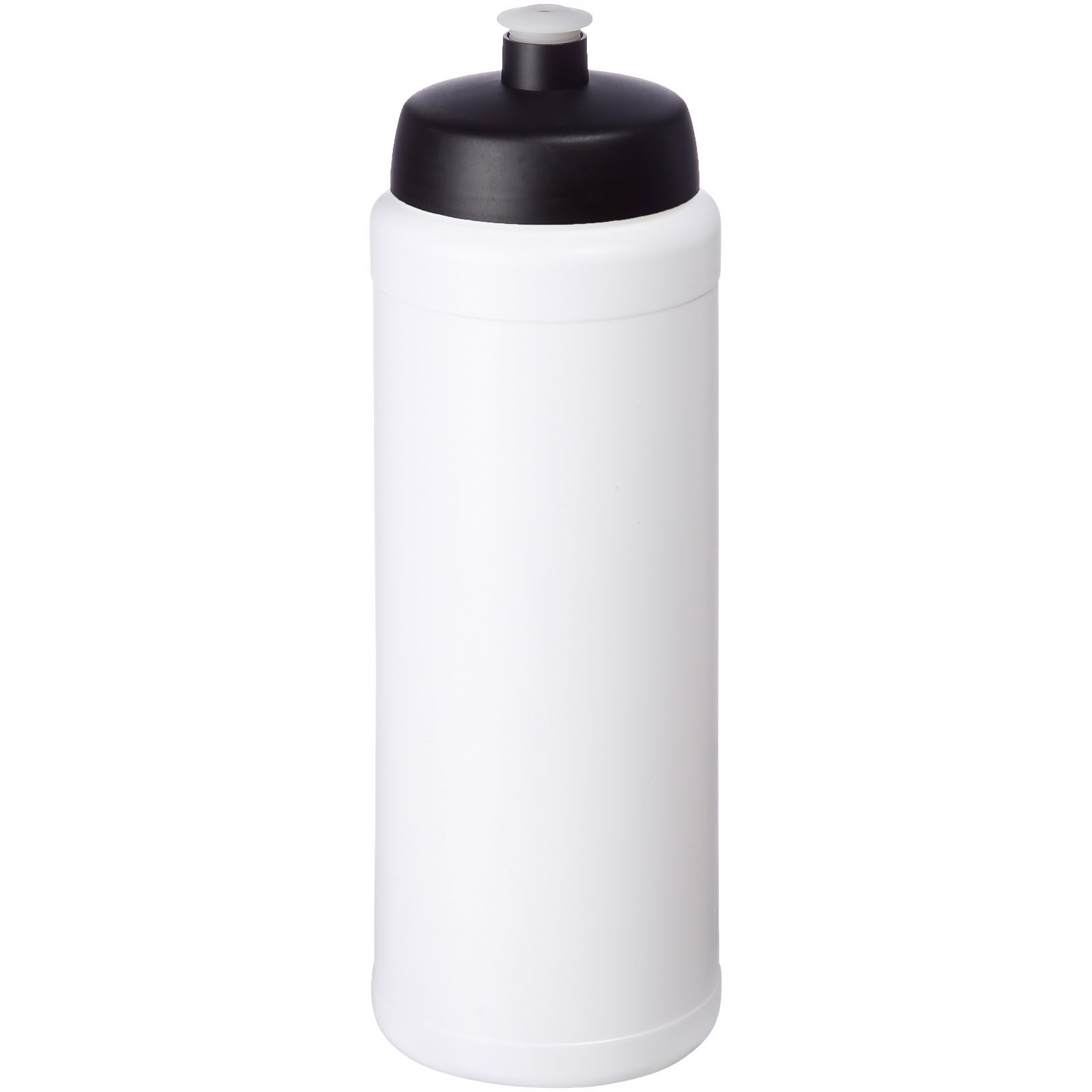 Baseline® Plus grip 750 ml sports lid sport bottle - White / Solid black