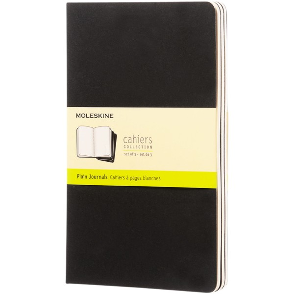 Cahier Journal L - plain - Solid black