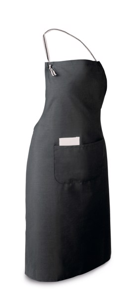 CHIVES. Apron in cotton and polyester - Black