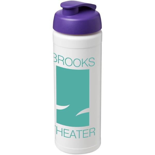 Baseline® Plus 750 ml flip lid sport bottle - White / Purple