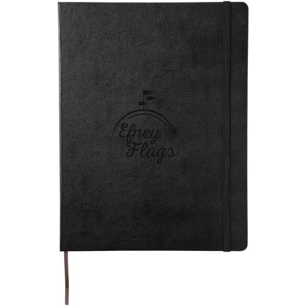 Classic XL hard cover notebook - ruled - Solid black