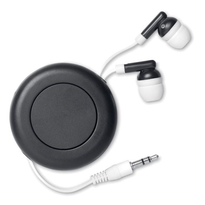 Navíjecí sluchátka Sonido - black