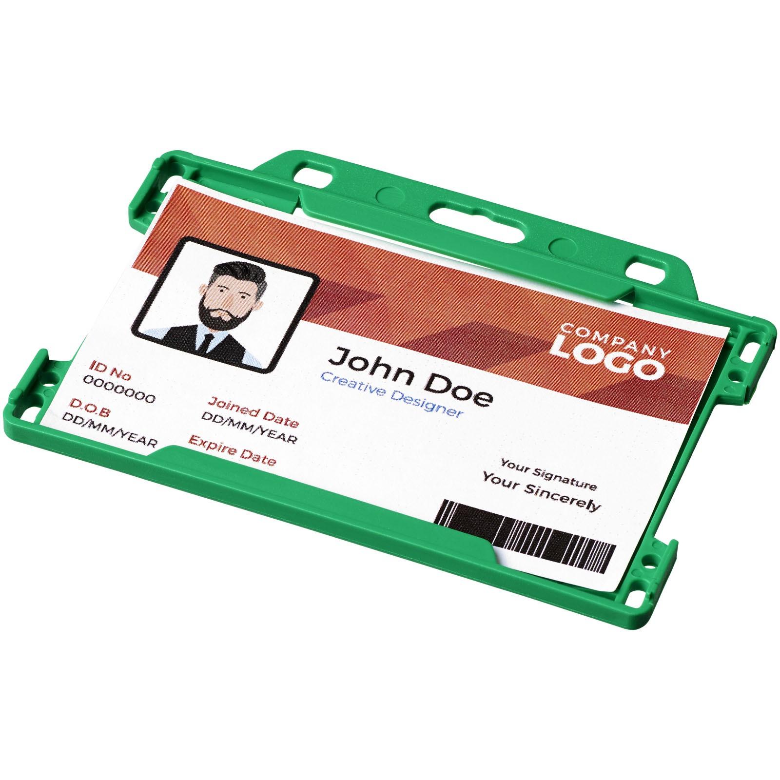 Vega plastic card holder - Green