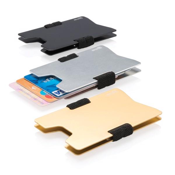 Aluminium RFID anti-skimming minimalist wallet - Silver / Black