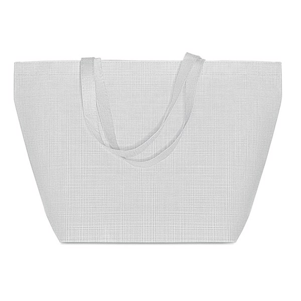 2 tone non woven shopping bag Duo Bag - White