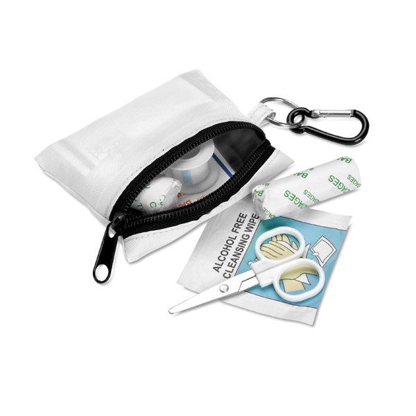 First aid kit w/ carabiner Minidoc - White