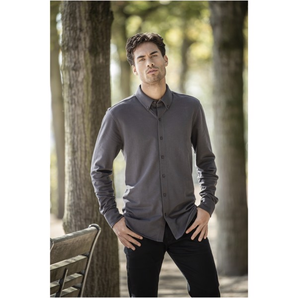 Pánská košile Bigelow s dlouhým rukávem - Storm Grey / L