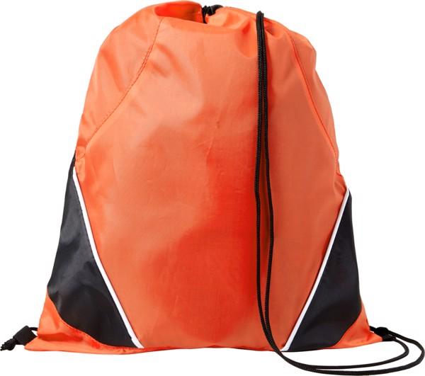 Polyester (210D) drawstring backpack - Orange