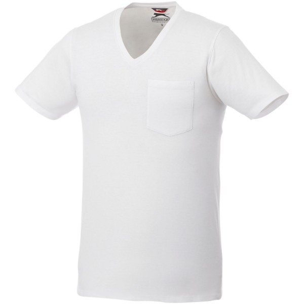 Gully short sleeve men's pocket t-shirt - White / L