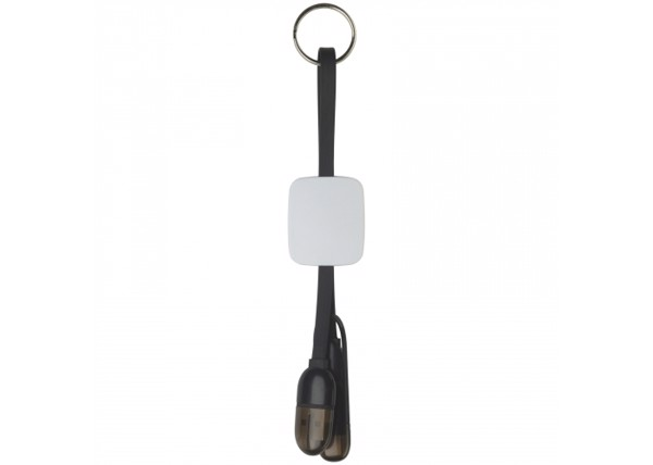 Keychain charging cable - Black / White
