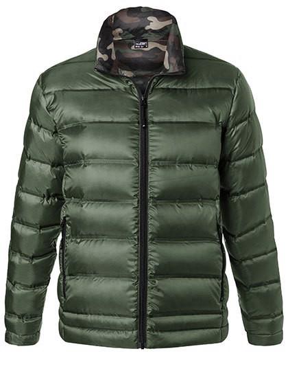 Men´S Down Jacket - Olive / Camouflage / 3XL