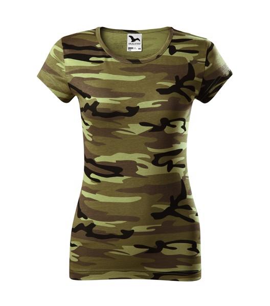 Tričko dámské Malfini Camo Pure - Camouflage Green / 2XL
