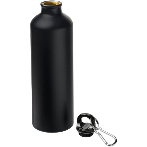 Pacific 770 ml matte Sportflasche mit Karabinerhaken - Schwarz