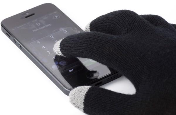 Polyester gloves - Black