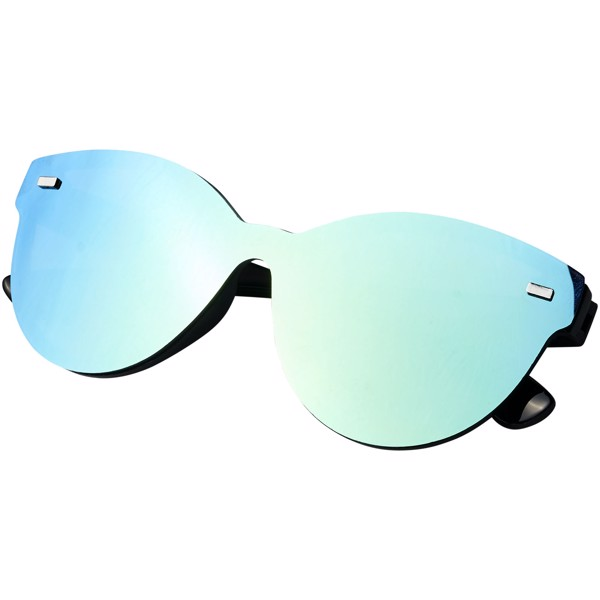 Shield sunglasses with full mirrored lens - Yellow