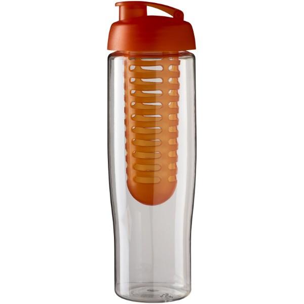 Sportovní láhev s infuzérema vyklápěcím víčkem H2O Tempo® 700 ml - Transparent / Orange