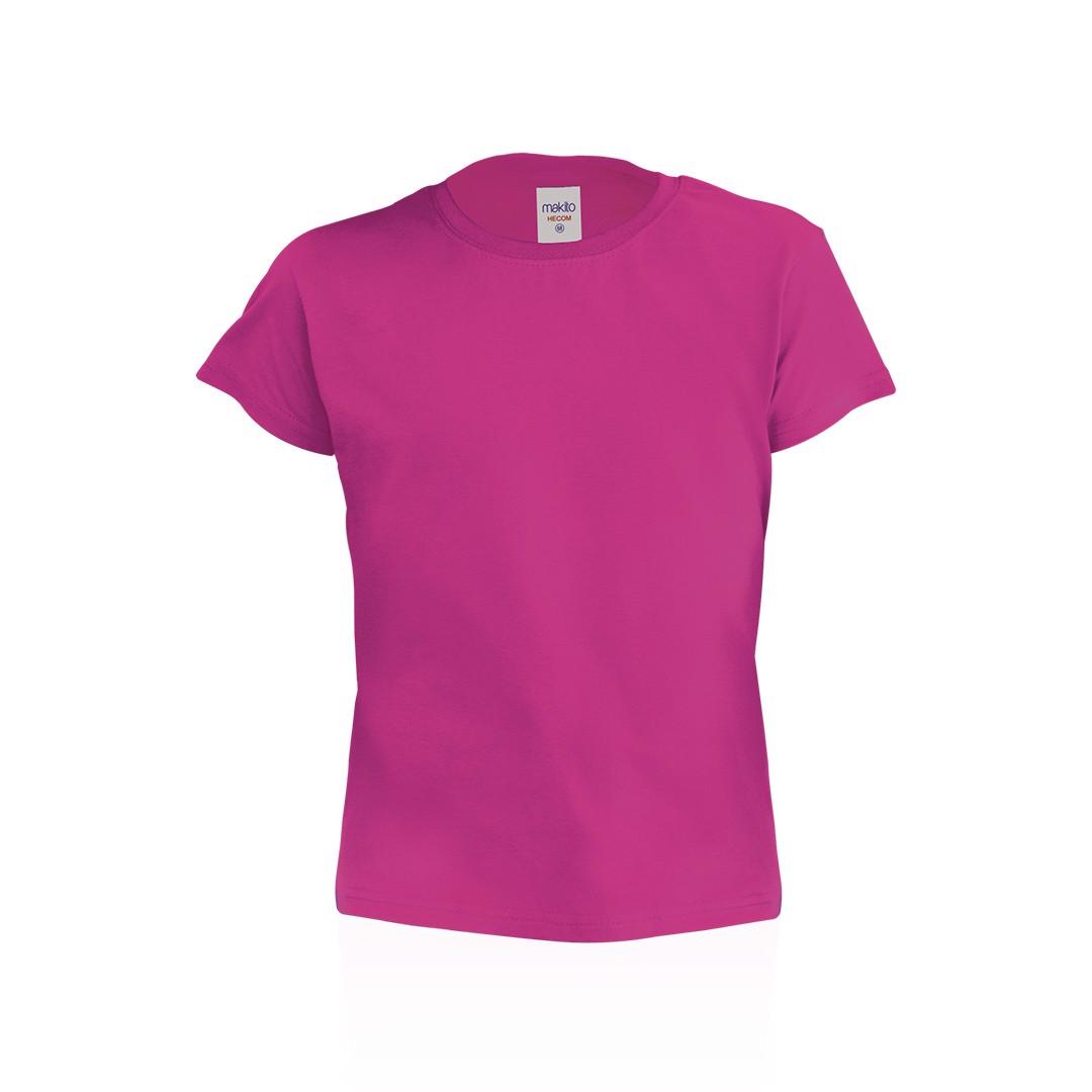 T-Shirt Criança Côr Hecom - Fucsia / 6-8