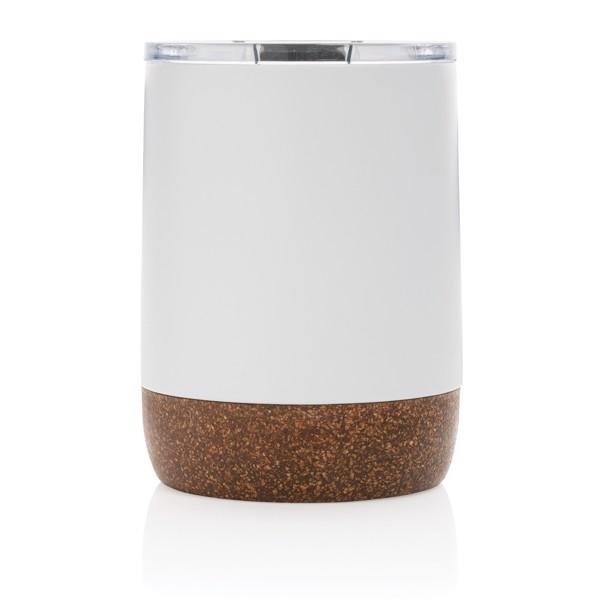 Malý korkový termohrnek - Bílá