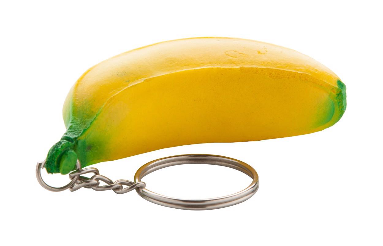 Antistresový Přívěšek Na Klíče Fruty - Žlutá